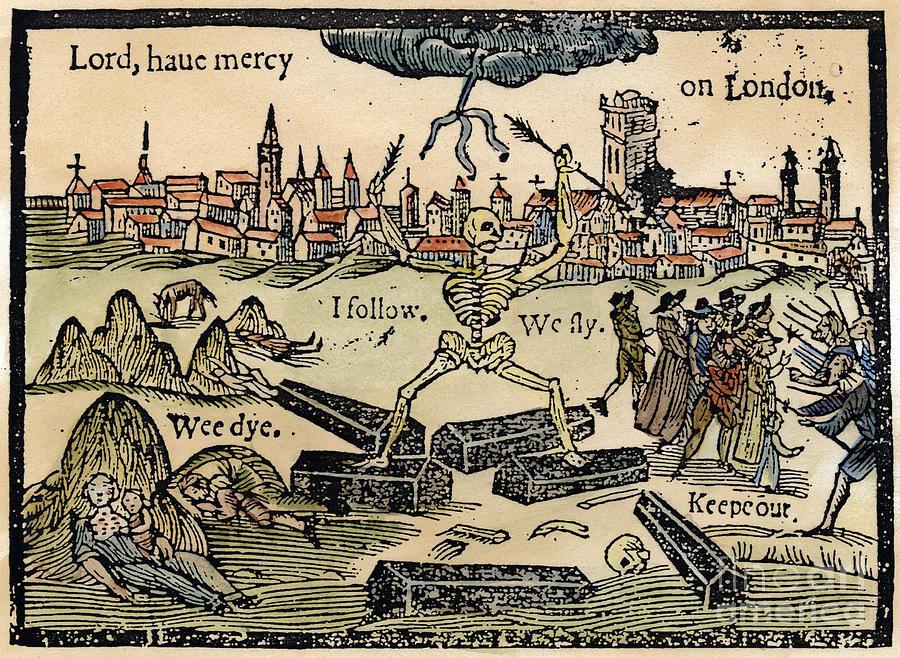 1665 Photograph - Plague Of London, 1665 by Granger