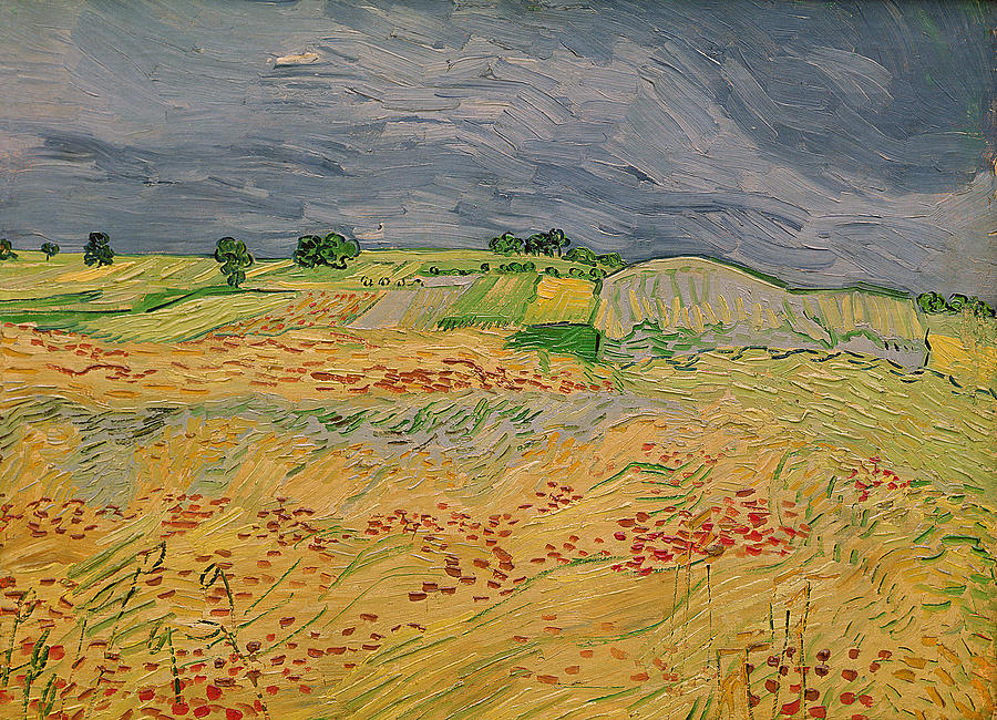 French Landscape Painting - Plain At Auvers by Vincent Van Gogh