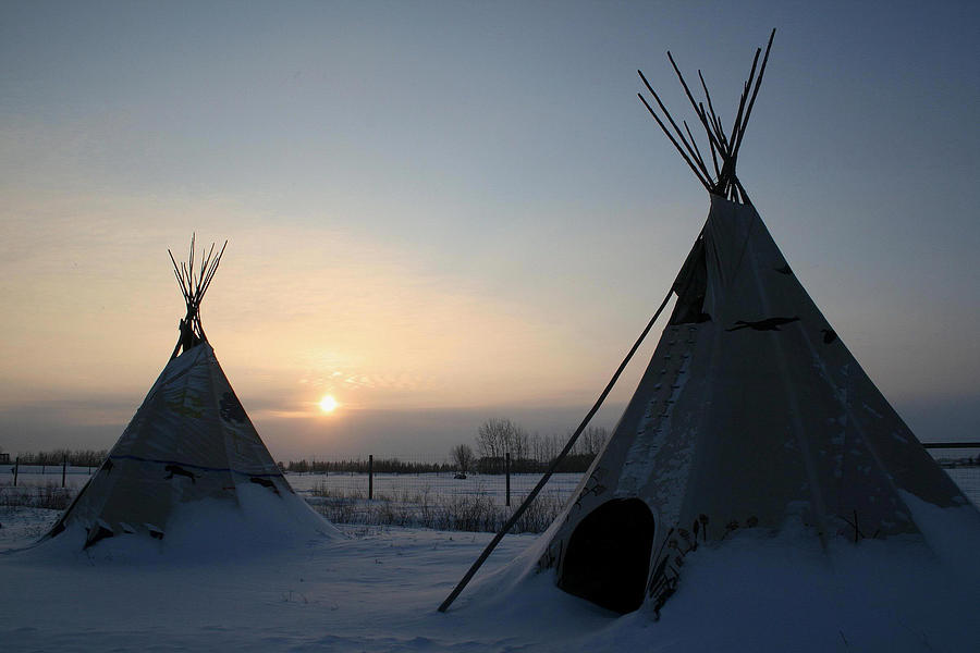 Tipi Photograph - Plains Cree Tipi by Larry Trupp