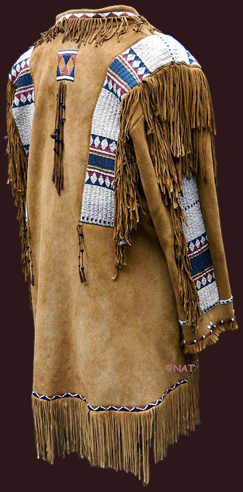 Plains Indian Jacket Or Frock Coat Mixed Media By Native