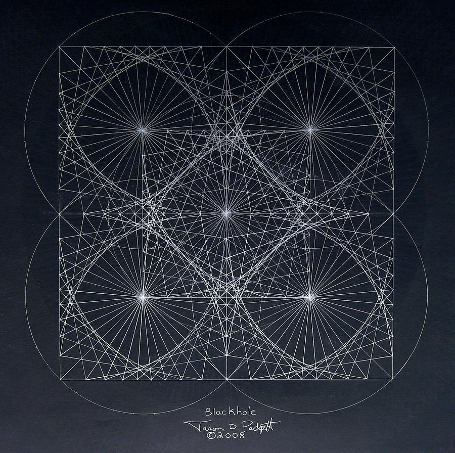 Drawing - Plancks Blackhole by Jason Padgett