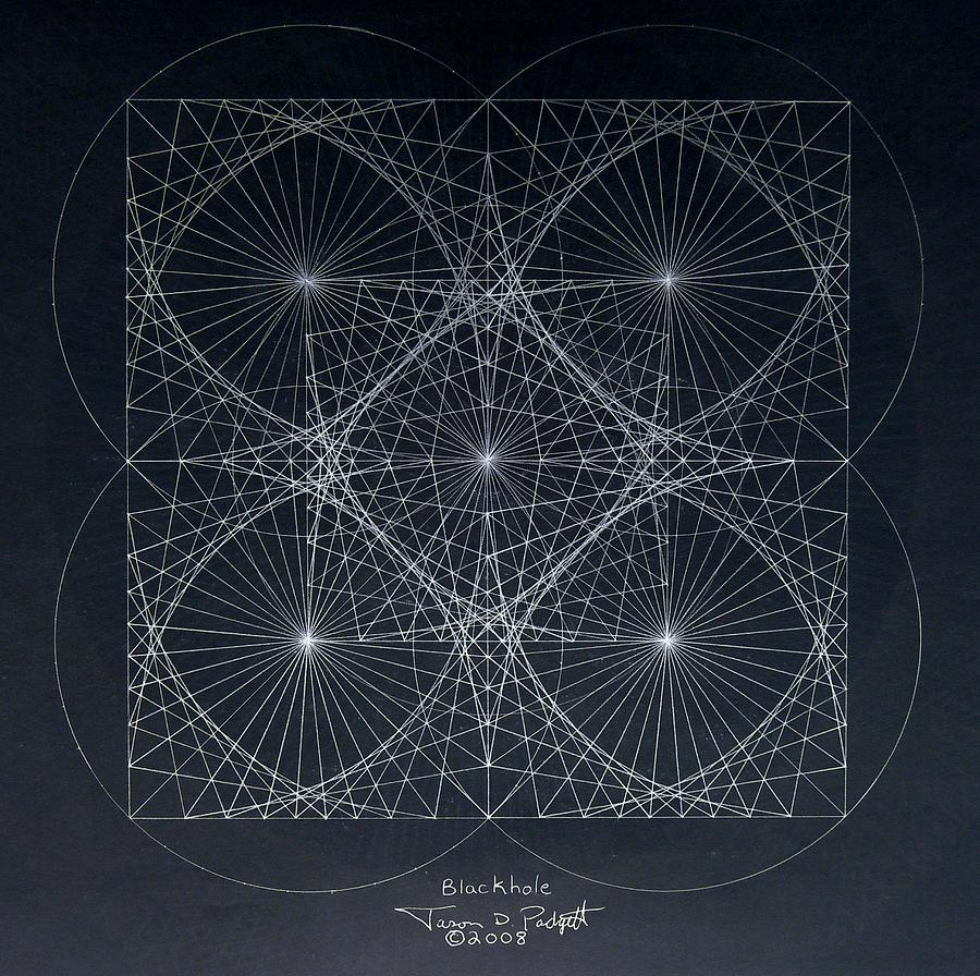 Blackhole Drawing - Plancks Blackhole by Jason Padgett