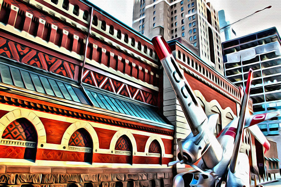 Philadelphia Photograph - Plane In The City by Alice Gipson