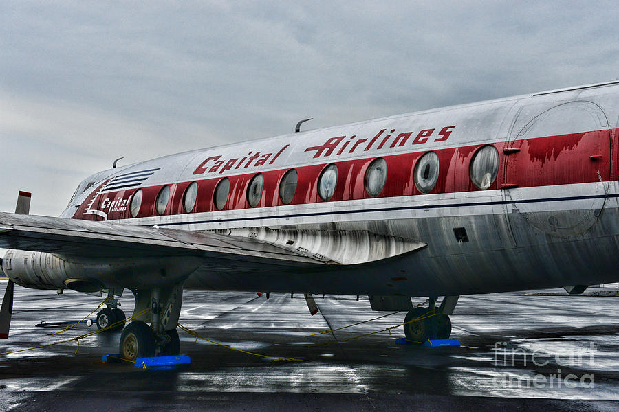 Paul Ward Photograph - Plane Obsolete Capital Airlines by Paul Ward