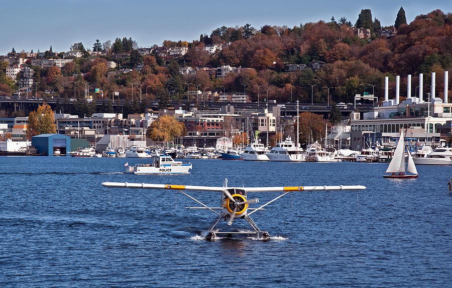 Plane On Lake Union Seattle Photograph By Valerie Garner