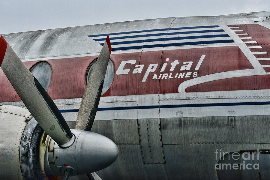 Paul Ward Photograph - Plane Vintage Capital Airlines by Paul Ward
