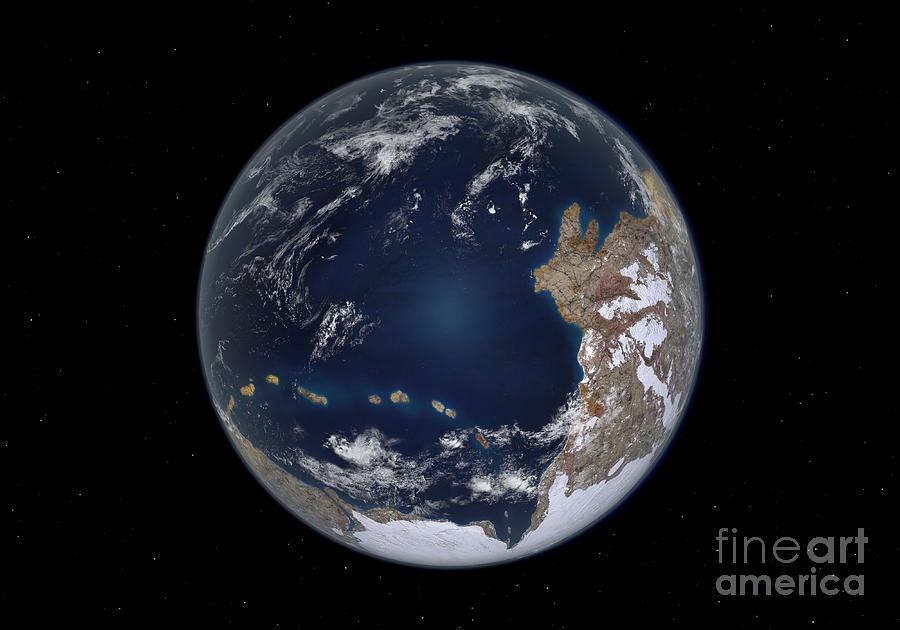 Earth Digital Art - Planet Earth 600 Million Years Ago by Walter Myers
