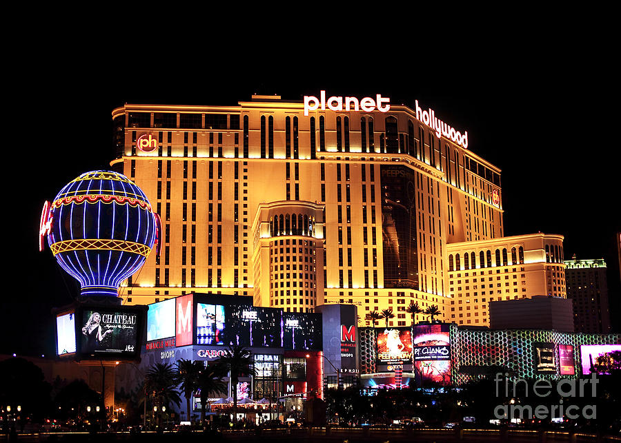 Planet Hollywood At Night Photograph - Planet Hollywood At Night by John Rizzuto