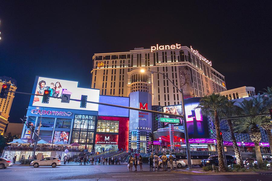 Planet Hollywood Las Vegas Strip At Night By Tobiasjo