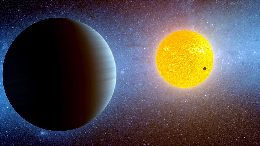 Moon Photograph - Planet Kepler10 Stellar Family Portrait by Movie Poster Prints