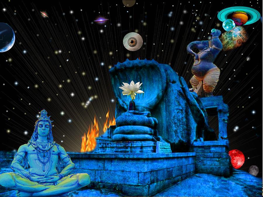 Allegory Digital Art - Planet Of Shiva  by Jason Saunders