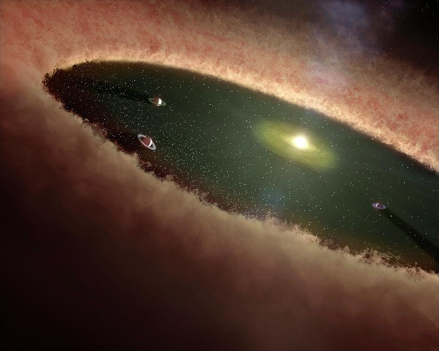 Nobody Photograph - Planets Forming Around A Star by Nasa/jpl-caltech/t. Pyle (ssc)