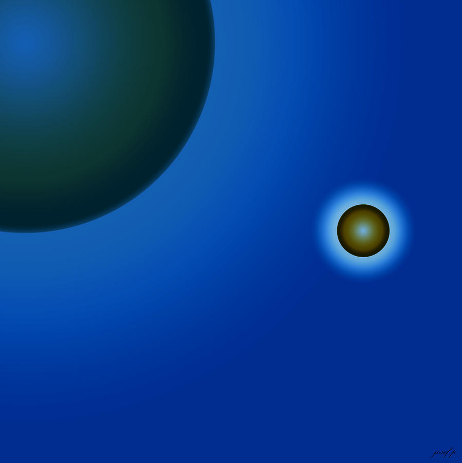 Planets Painting - Planets Of Mercy by Sir Josef - Social Critic - ART