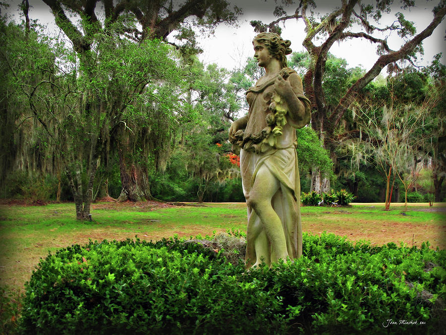 Plantation Garden New Orleans Digital Art by Joan Minchak