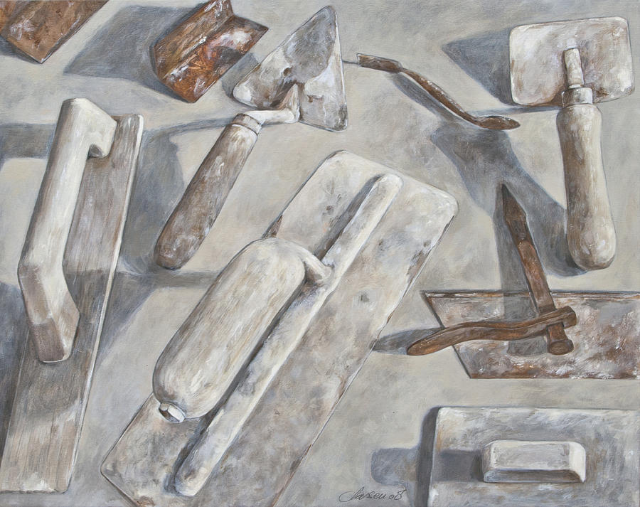 Plasterer Tools 2 Painting by Anke Classen