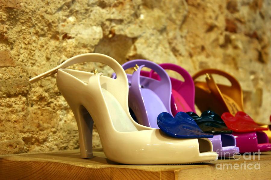 Shoes Photograph - Plastic Chic by Sophie Vigneault