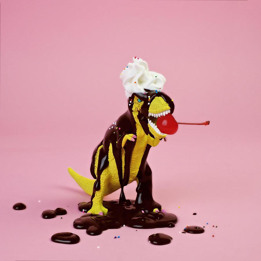 Plastic T-rex Dinosaur Toy As Chocolate Photograph by Juj Winn