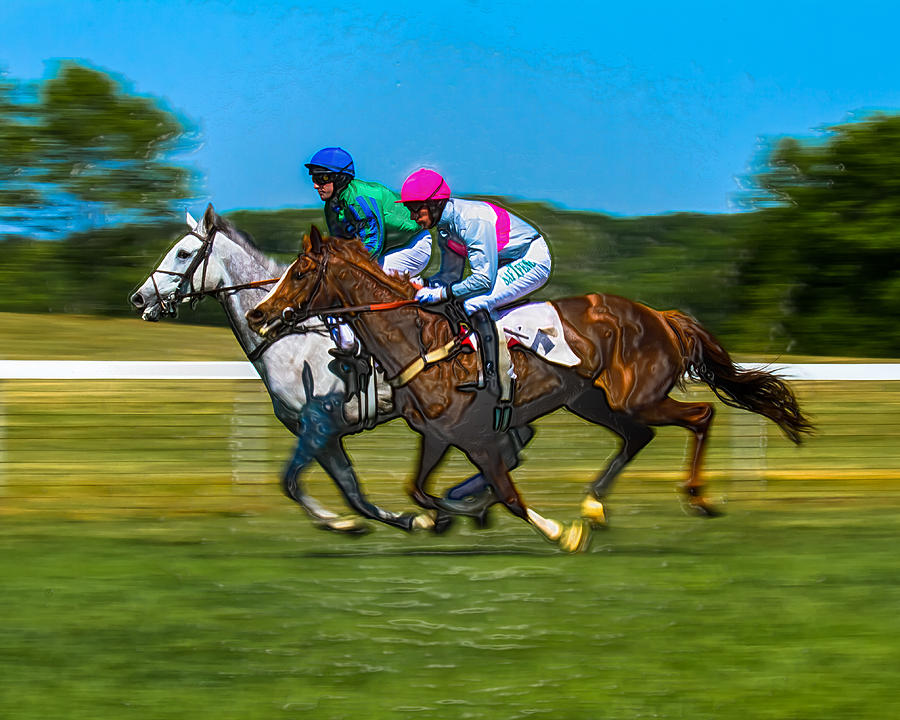 Steeplechase Photograph - Plastic Wrapped Steeplechase by Robert L Jackson