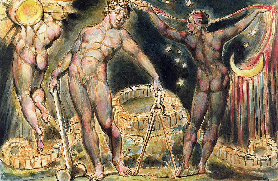 Nude Painting - Plate 100 From Jerusalem by William Blake