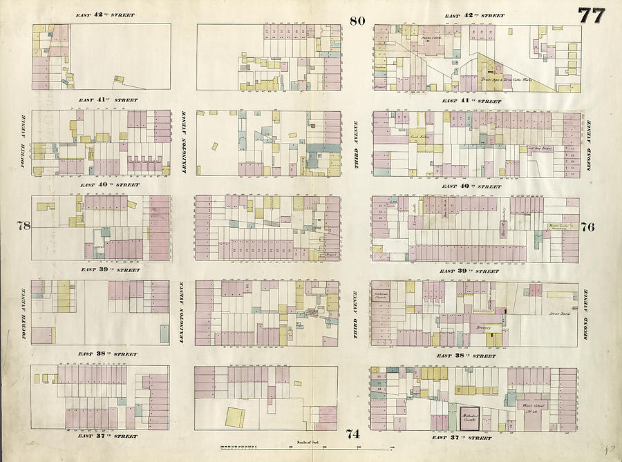 Plate 77 Map Bounded By East 42nd Street by Litz Collection on central park map, grand central map, chinatown map, state fair map, memphis map, new york public library map, streets of new york city map, soho map, san francisco map, sugar map, times square map, fargo map,