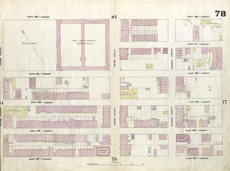 Plate 78 Map Bounded By West 42nd Street by Litz Collection on central park map, grand central map, chinatown map, state fair map, memphis map, new york public library map, streets of new york city map, soho map, san francisco map, sugar map, times square map, fargo map,