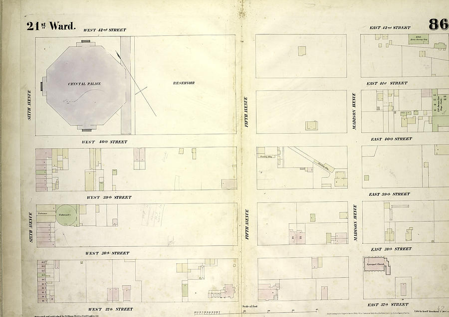 Plate 86 Map Bounded By West 42nd Street by Litz Collection on central park map, grand central map, chinatown map, state fair map, memphis map, new york public library map, streets of new york city map, soho map, san francisco map, sugar map, times square map, fargo map,