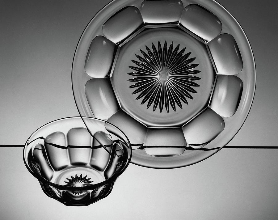 Plate And Bowl Photograph by Martinus Andersen