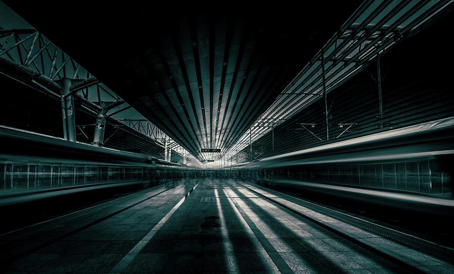 Vanishing Point Photograph - Platform Beijing by Baidongyun