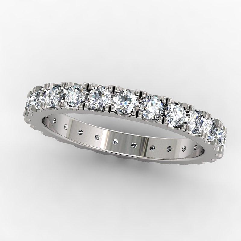 Yellow Gold Jewelry - Platinum Diamond Eternity Band by Eternity Collection