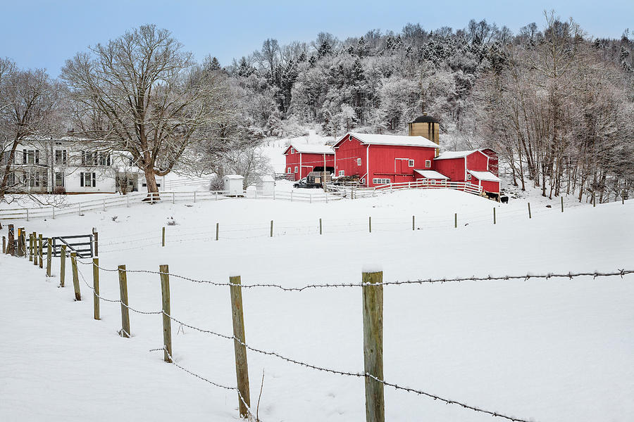 Old Red Barn Photograph - Platt Farm by Bill Wakeley