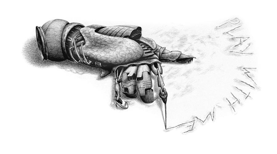 Hand Drawing - Play With Me by Vincent Jimenez