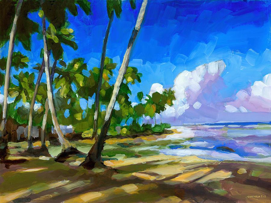 Beach Painting - Playa Bonita by Douglas Simonson