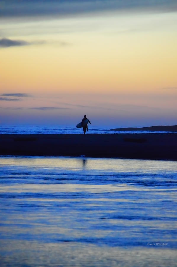 Surf Photograph - Played Out by Donna Blackhall
