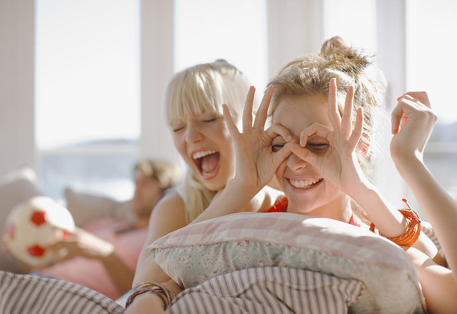 Playful Women Making Faces Photograph by Paul Bradbury