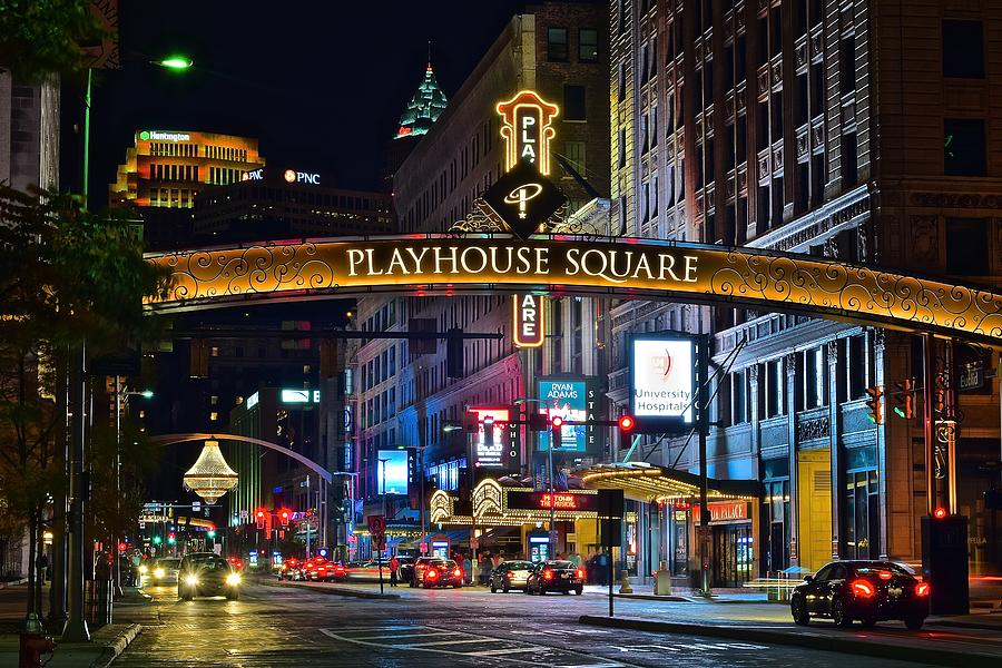 Cleveland Photograph - Playhouse Square by Frozen in Time Fine Art Photography
