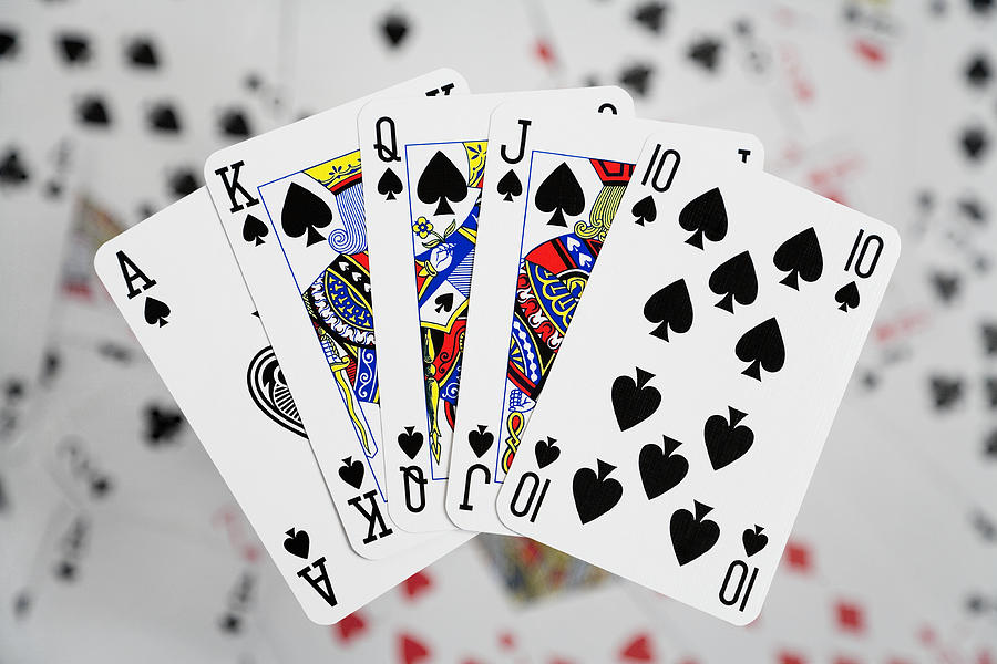 Playing Cards Photograph - Playing Cards - Royal Flush by Natalie Kinnear