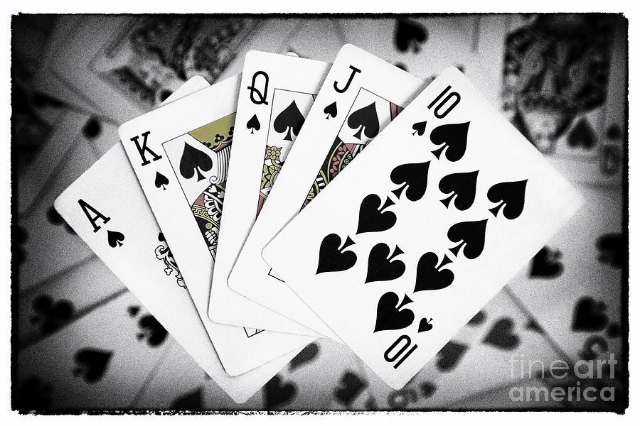 Mens Hoodie Poker Royal Flush