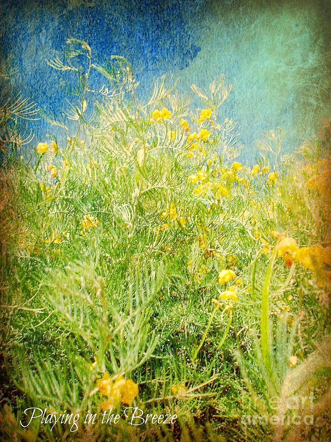 Vertical Art Photograph - Playing In The Breeze by Janice Sakry