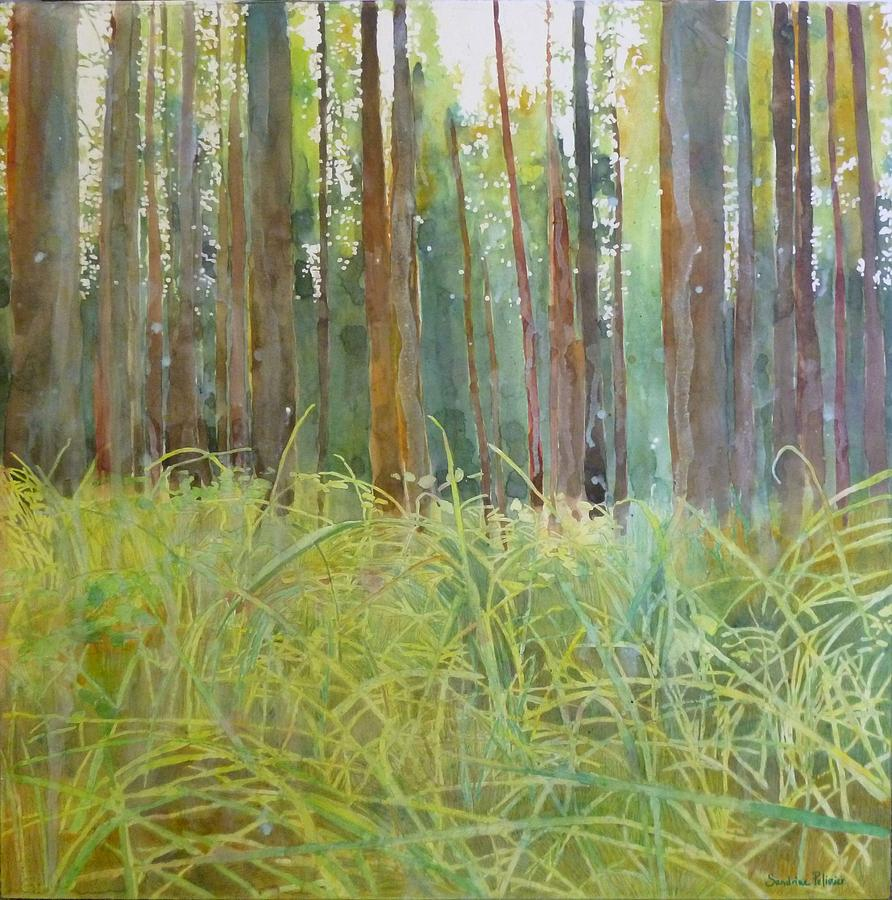 Playing In The Grass Painting by Sandrine Pelissier