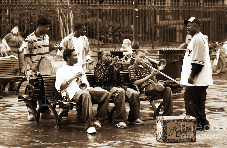 Playing Jazz In New Orleans Photograph - Playing Jazz In New Orleans by John Rizzuto
