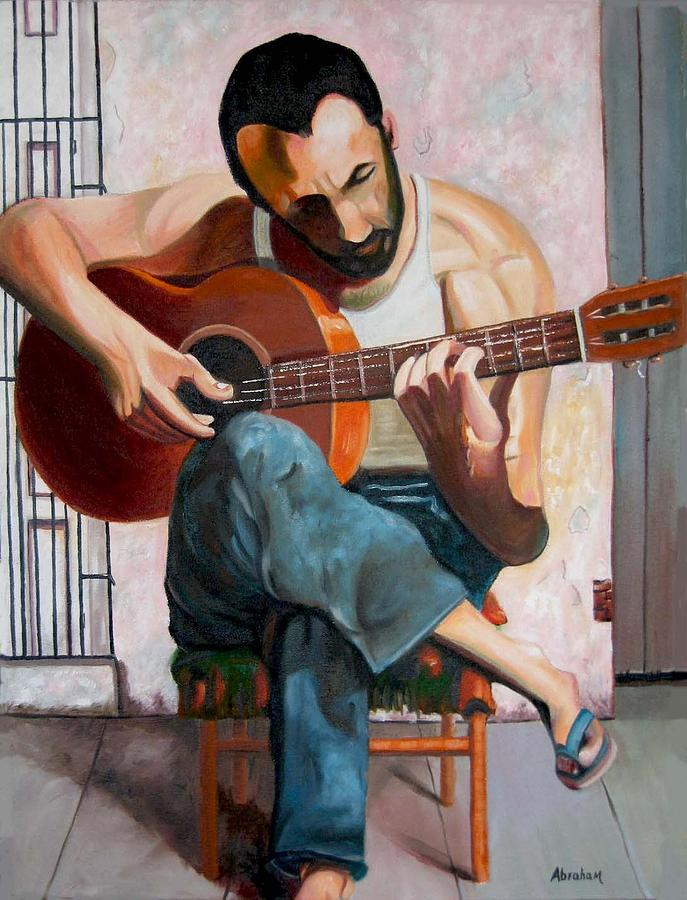 Playing Painting - Playing by Jose Manuel Abraham
