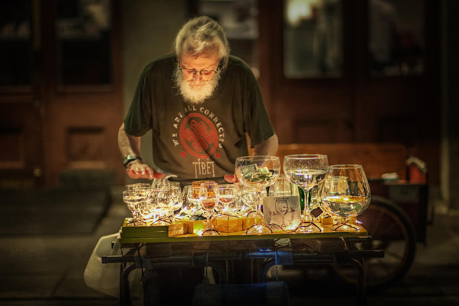 French Quarter Photograph - Playing The Glasses by Brenda Bryant