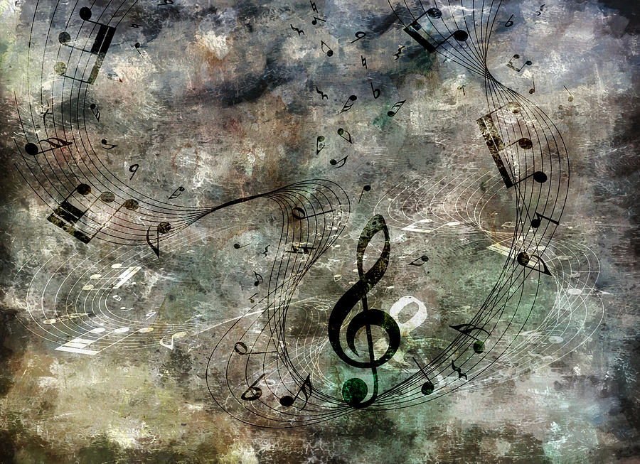 Music Digital Art - Playing Your Song by Angelina Vick