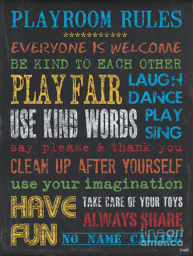 Playroom Painting - Playroom Rules by Debbie DeWitt