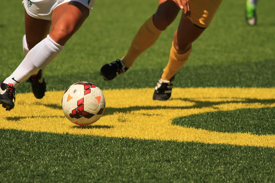 Soccer Photograph - Plays On The Ball by Laddie Halupa