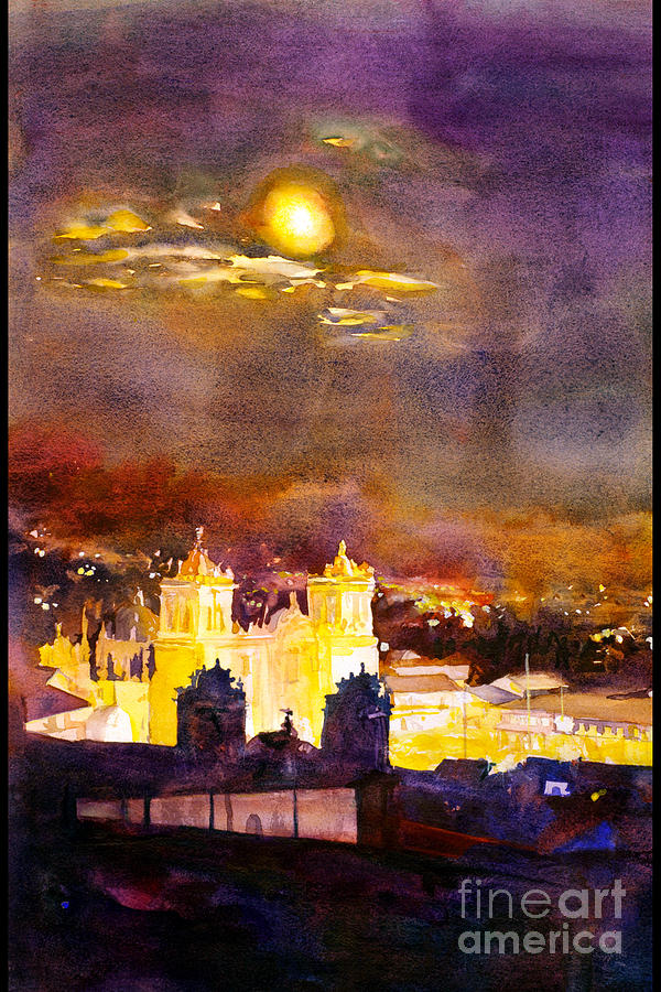 Cathedral Painting - Plaza De Armas- Cusco by Ryan Fox