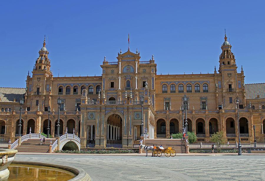 Spanish Square Photograph - Plaza De Espana by Tony Murtagh