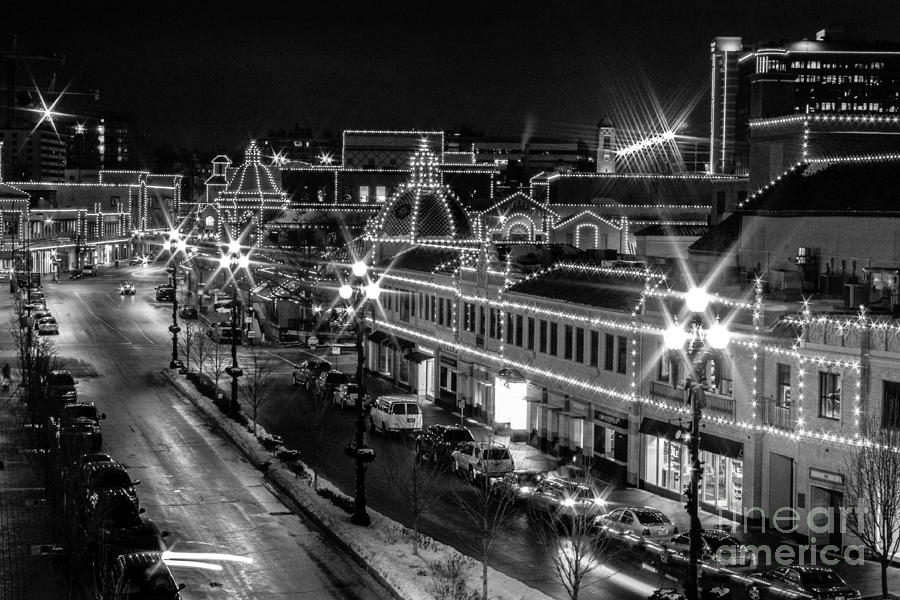 Kansas city plaza photograph plaza in kansas city in black and white by terri morris