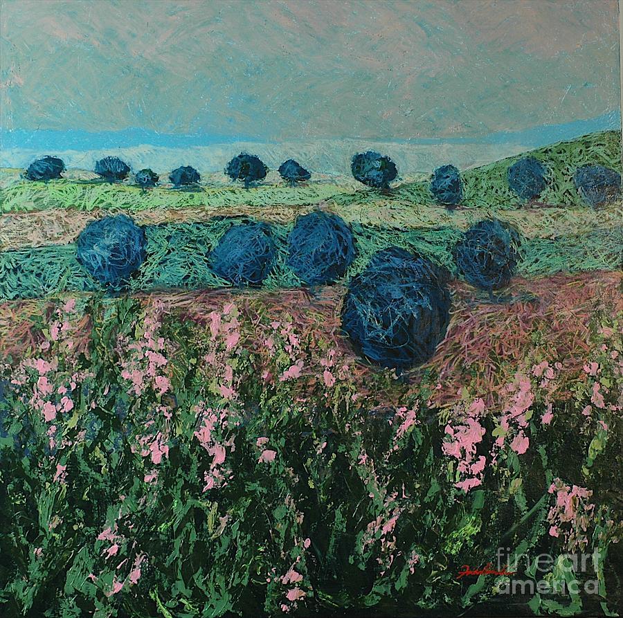 Landscape Painting - Pleasant Meadows by Allan P Friedlander