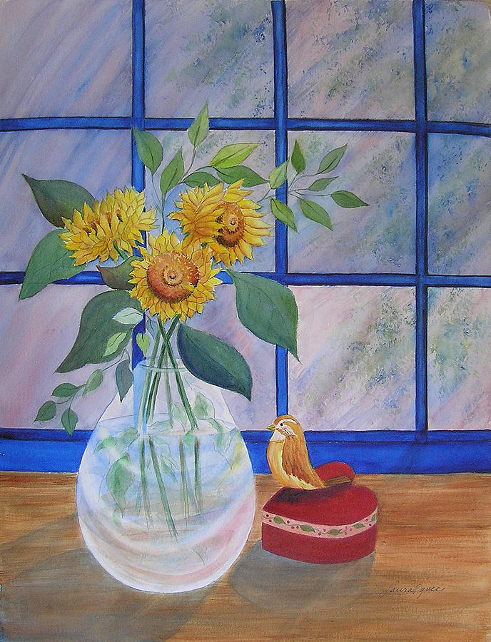 Sunflower Painting - Pleasant Surprise by Laura Nance
